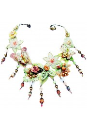 Michal Negrin Butterfly Garden Lace Necklace