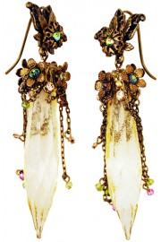 Michal Negrin Gold Tone Bewitched Earrings