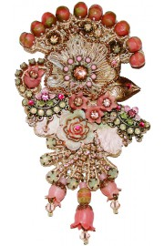 Michal Negrin Baroque Embellished Lace Brooch