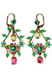 Michal Negrin Multicolor Bells Crystal Earrings