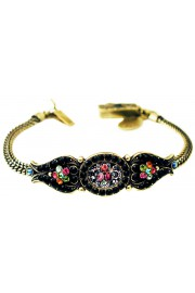 Michal Negrin Antique Roses Black Bracelet