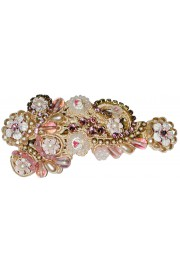 Michal Negrin Pearl Lilac Lace Hair Clip