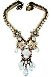Michal Negrin Aurora Borealis Lace Necklace
