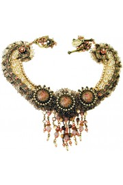Michal Negrin Antique Lace Cameos Necklace