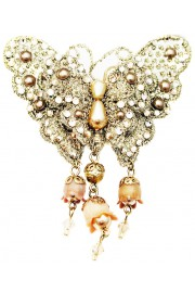 Michal Negrin Butterfly Lace Brooch