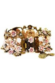 Michal Negrin White Pink Lilac Crochet Bracelet