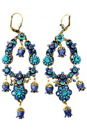 Michal Negrin Blue Turquoise Vintage Bells Earrings