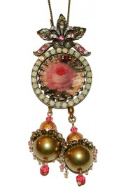 Michal Negrin Lenticular Rose Beads Necklace