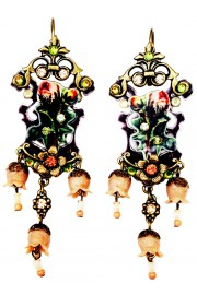 Michal Negrin Victorian Rose Shadow Earrings
