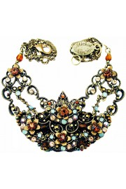 Michal Negrin Bronze Crystals Lace Necklace
