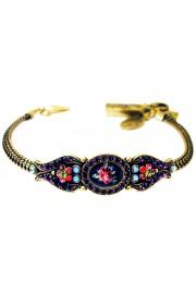Michal Negrin Antique Roses Purple Bracelet