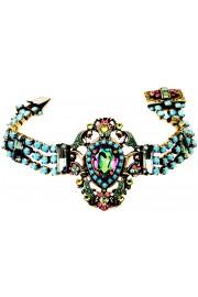 Michal Negrin Antique Style Fuchsia Turquoise Bracelet