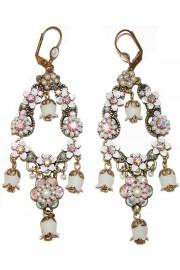 Michal Negrin White Vintage Bells Earrings
