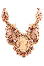 Michal Negrin Victorian Lace Cameo Necklace