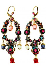 Michal Negrin Vintage Multicolor Bell Earrings