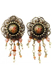 Michal Negrin Antique Lace Cameo Earrings