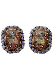 Michal Negrin Antique Cameo Earrings