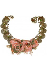 Michal Negrin Vintage Roses Lace Necklace