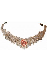 Michal Negrin Antique Rose Lace Necklace