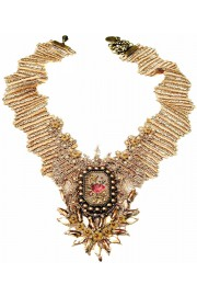 Michal Negrin Vintage Cameo Beads Lace Necklace