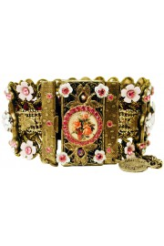 Michal Negrin Pink White Cameo Bracelet