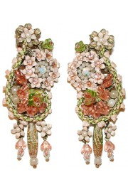 Michal Negrin Vintage Lace Clip Earrings