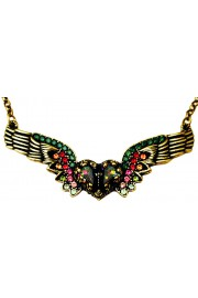 Michal Negrin Multicolor Winged Heart Necklace