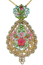 Michal Negrin Lace Medallion Necklace