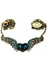 Michal Negrin Turquoise Winged Heart Necklace