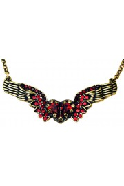 Michal Negrin Red Winged Heart Necklace