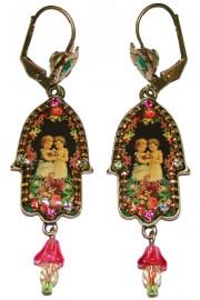 Michal Negrin Victorian Hamsa Earrings