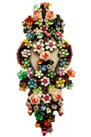 Michal Negrin Multicolor Lace Brooch