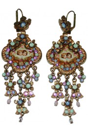 Michal Negrin Victorian Cherubs Cameo Earrings