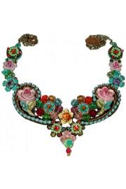 Michal Negrin Multicolor Vintage Lace Necklace
