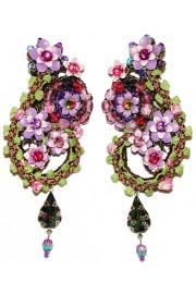 Michal Negrin Purple Vintage Lace Clip Earrings