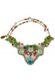 Michal Negrin Vintage Multicolor Lace Necklace