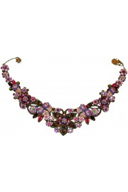 Michal Negrin Purple Pink Vintage Lace Necklace