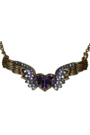 Michal Negrin Blue Winged Heart Necklace