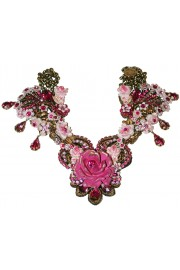 Michal Negrin Fuchsia Rose Garden Necklace