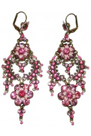 Michal Negrin Pink Drama Earrings