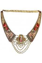 Michal Negrin Baroque Fabric Necklace