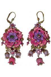 Michal Negrin Purple Rose Earrings