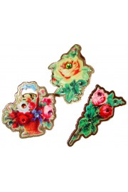 Michal Negrin Set of Three Victorian Pins