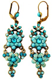 Michal Negrin Turquoise Chandelier Earrings