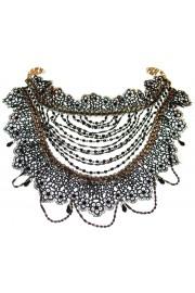 Michal Negrin Black Lace Choker Necklace