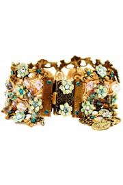 Michal Negrin Green Aqua Turquoise Crochet Bracelet