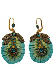Michal Negrin Turquoise Fabric Earrings