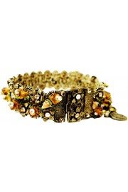 Michal Negrin Gold Brown Delicate Lace Bracelet