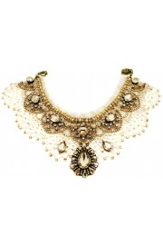 Michal Negrin Starry Night Crystal Lace Necklace