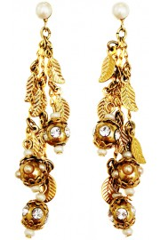Michal Negrin Pearl Gold Plated Orb Earrings